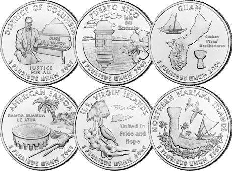 Uncirculated 2009 Puerto Rico P/&D Territory Quarters BU