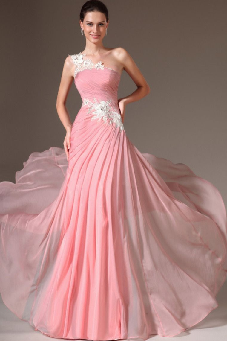 2014 One Shoulder Pleated Bodice With Beaded Applique Court Train ...