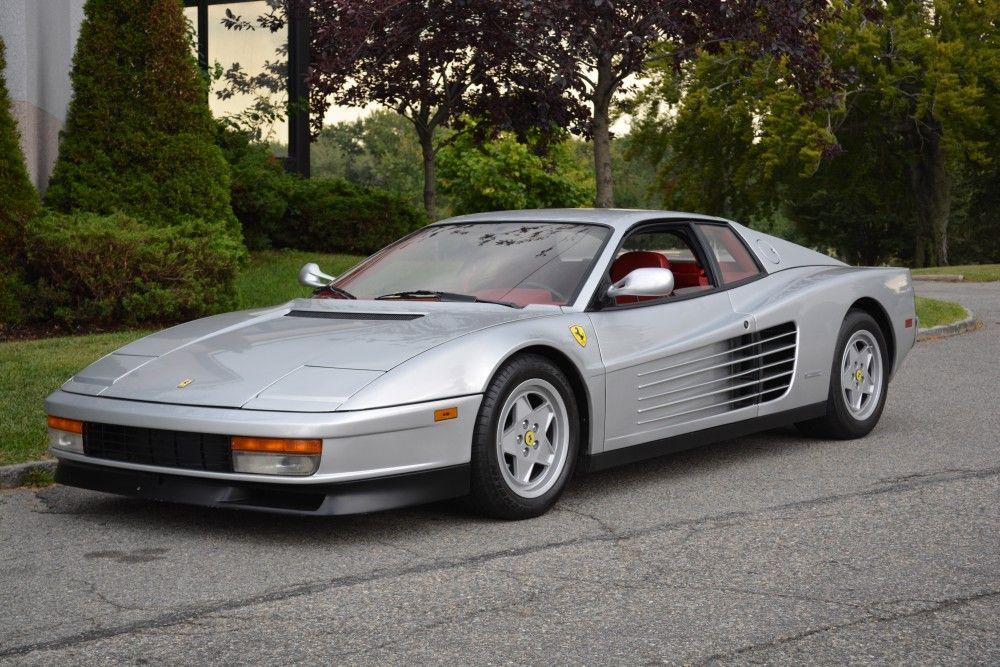 1990 Ferrari Testarossa Silver With Images Ferrari