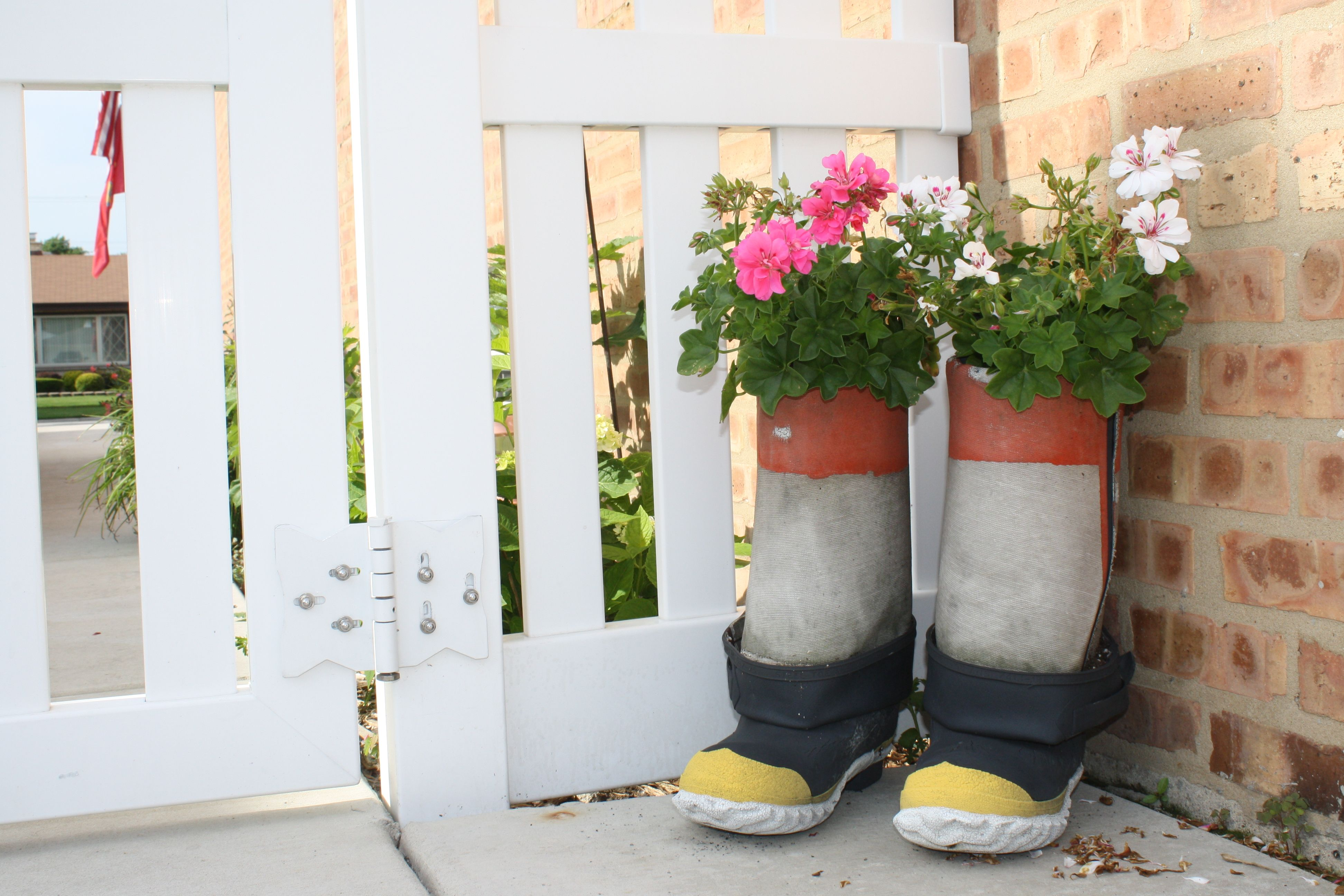 Fire Boot Planters