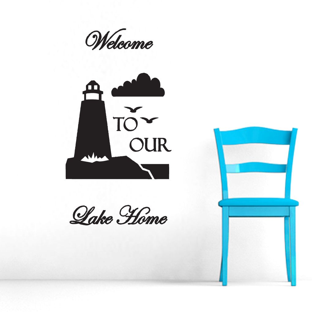Welcome To Our Lake Home Wall Decals Entryway Wall Wall Decals - Wall decals entryway