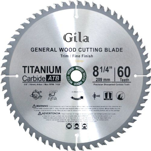 Gilatools 8 1 4 Inch 60 Teeth Atb Trim And Fine Finish Carbide Saw Blade Click Image To Review More Details Circular Saw Blades Saw Blade Best Circular Saw
