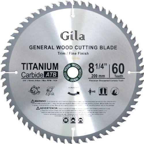 Gilatools 8 1 4 Inch 60 Teeth Atb Trim And Fine Finish Carbide Saw Blade Click Image To Review More Details Circular Saw Blades Saw Blade Best Circular Saw