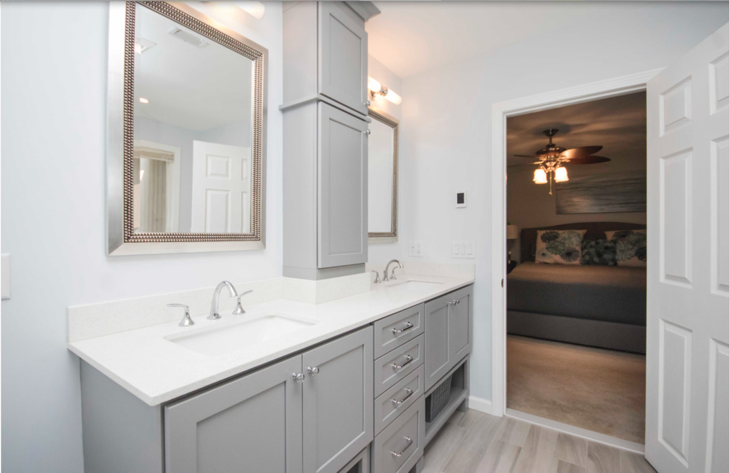 Beautiful Master Bathroom Remodel Featuring Waypoint Living Spaces