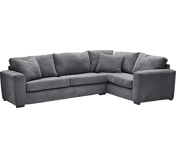 Buy Argos Home Eton Right Corner Fabric Sofa Charcoal Sofas Grey Fabric Sofa Charcoal Sofa