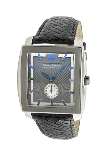 Tommy Bahama 'Cairo' Square Face Leather Strap Watch available at #Nordstrom