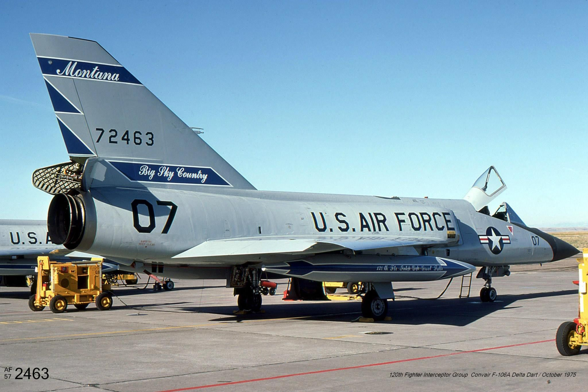 "F106A ""Delta Dart"" 572463, 120th FIS, Montana ANG, Oct"