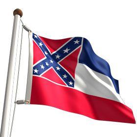 Mississippi State Flag Rectangular Sticker Mississippi State Mississippi Flag State Flags