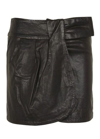 ccdf54de664 Jupe Bow En Cuir Noir Berenice pour femme sur Place des tendances Groupe  Printemps. Retrouvez toute la collection Berenice pour femme.