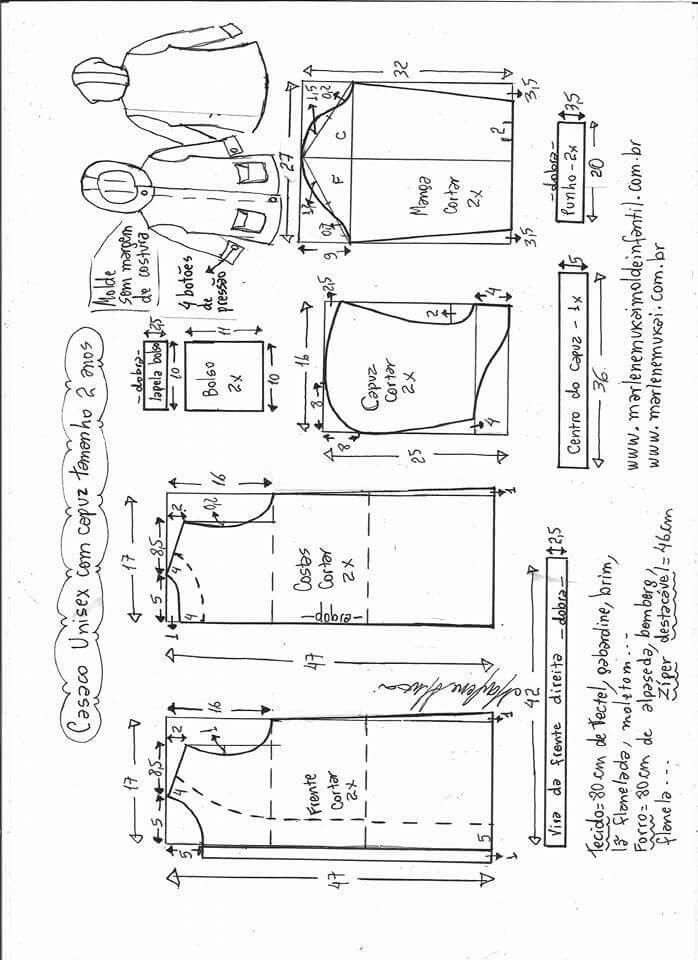 Campera de 👦 o 👧 | abg05 | Patrones, Vestidos para niñas y Costura
