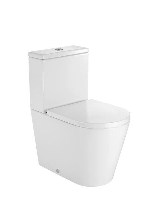 ROUND - Inodoro compacto adosado a pared con salida dual (cisterna y tapa no incluidos) | Inodoros de tanque bajo | Inodoros | Productos | Roca