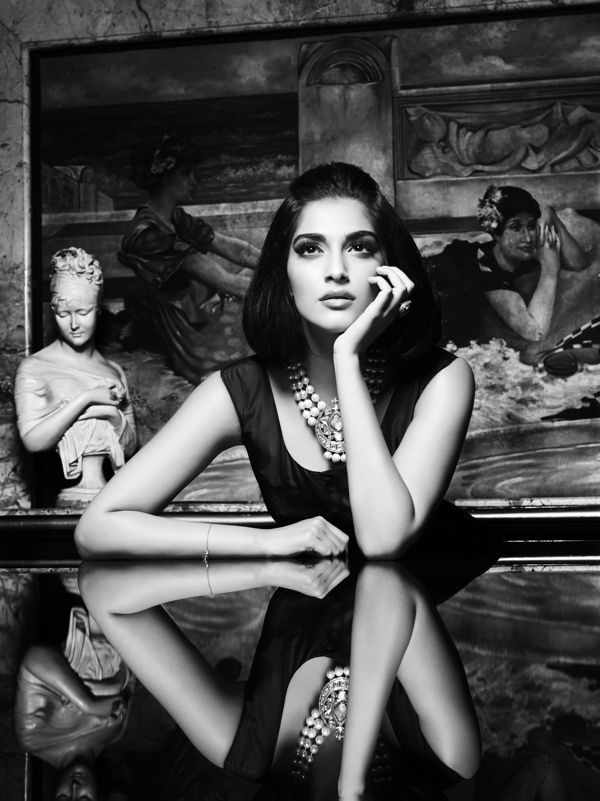 Sonam Kapoor - Indian actress black & white photoshoot