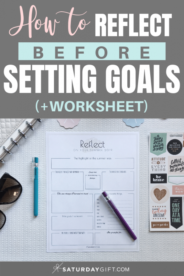 Reflect on your summer worksheet. Reflect before setting