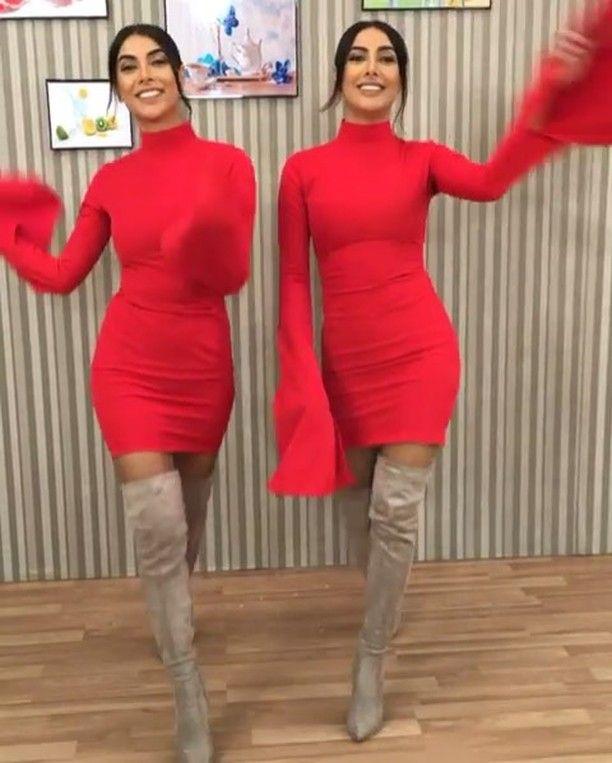 Redd Dress Instagram Da Qadin Geyimleri Luxury Wooman Tesekkurler Sevinc Sevil Geyim Lux Dresses Sweater Dress Red Dress
