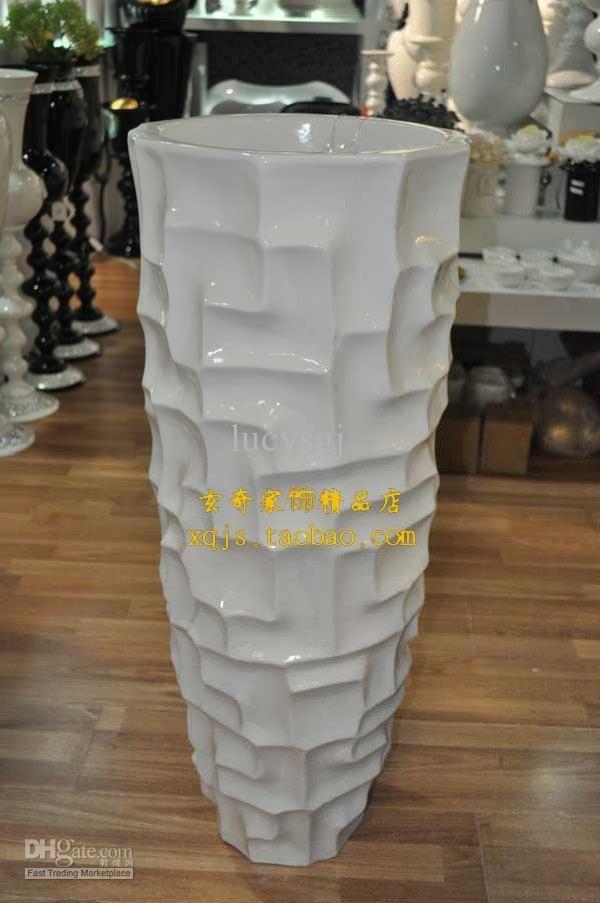 Round Large Floor Vase Modern Fashion Flower Brief Derlook .