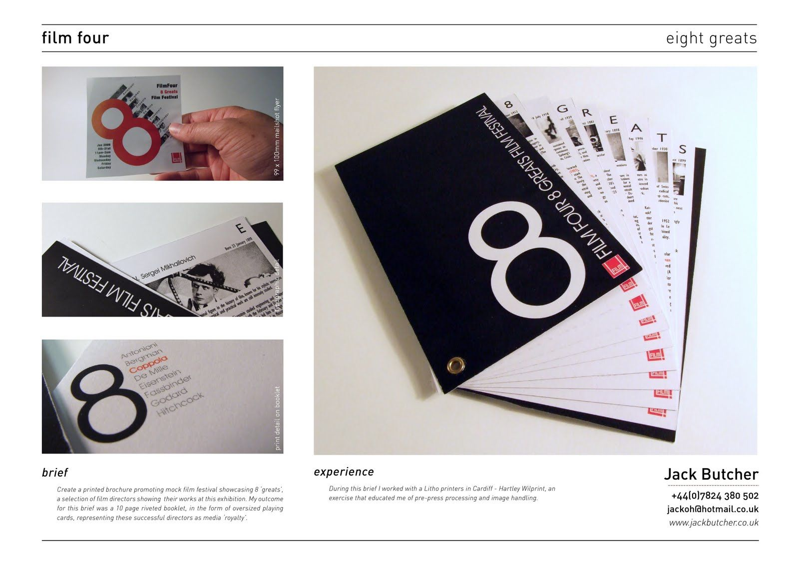 Graphic Designer Printed Portfolio Examples With Graphic ...