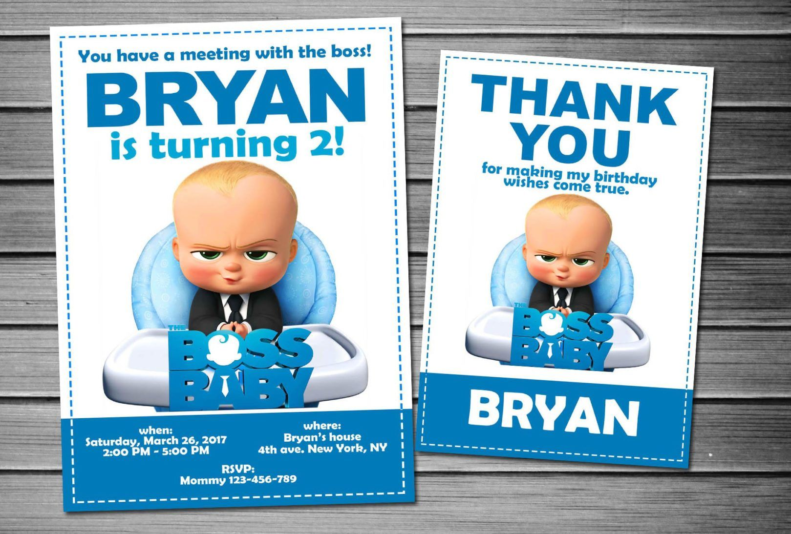 Birthday Thank You Cards Printable Invitations Baby Party Printables Invitation