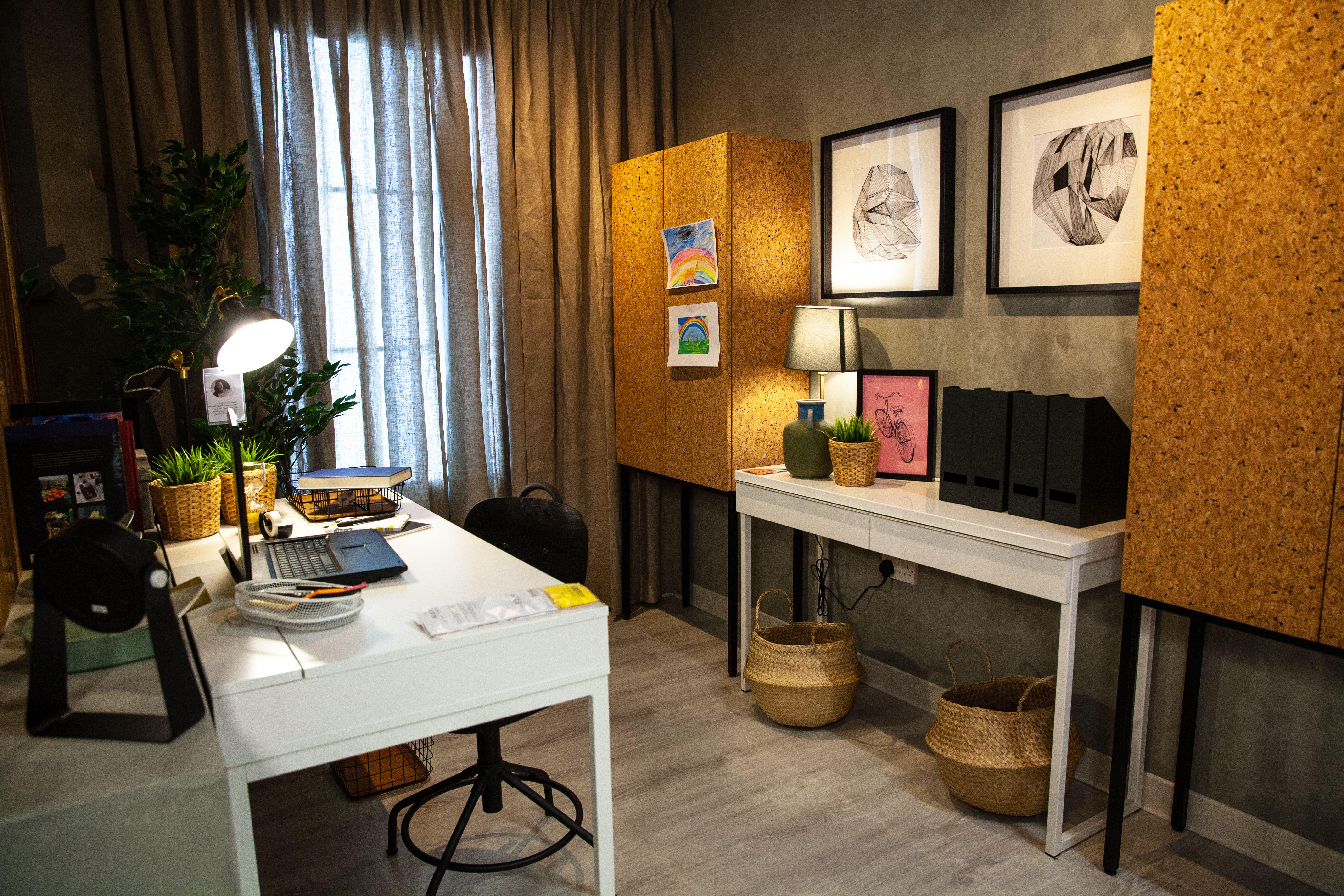 Office Corner زاوية مكتب Ikea Living Room Design Design Planning