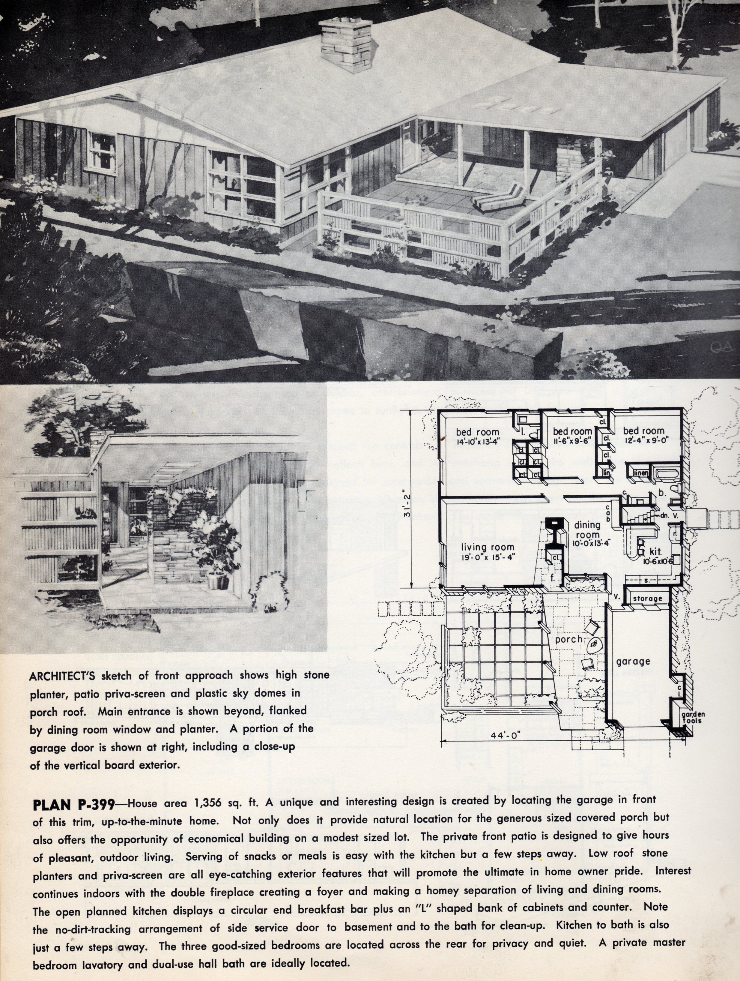 Vintage House Plans Vintage Houses 1960s House