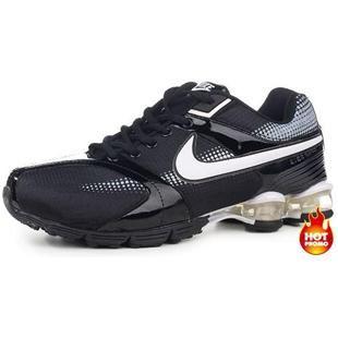 be3c33100a6 www.asneakers4u.com Mens Nike Shox R4 Black White Grey II