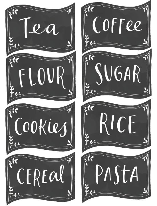 Free Chalkboard Labels For Pantry Love These Freebie Kitchen