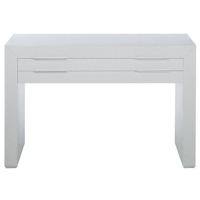 Mesa blanca lineas rectas con dos cajones mesas - Mesa blanca ikea ...