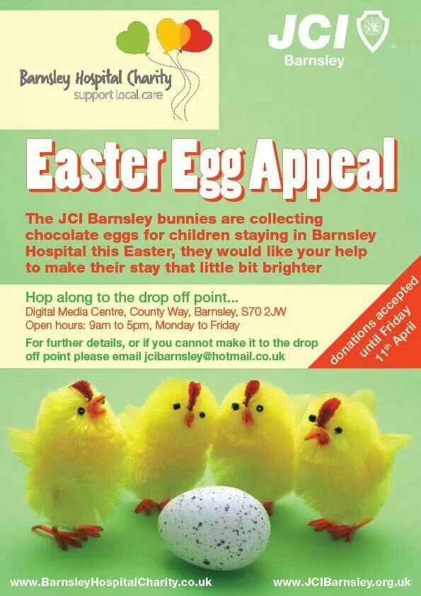 Jci Barnsley S Easter Egg Appeal For The Barnsley Hospital