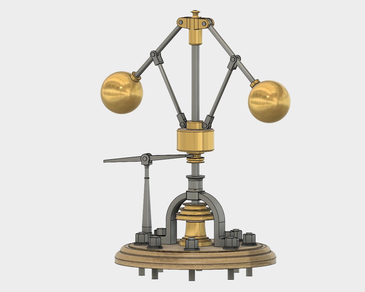 James Watt - Centrifugal Force Governor - STEP / IGES - 3D