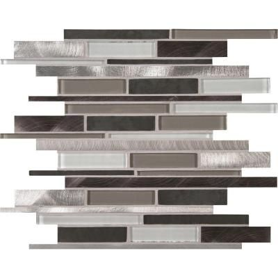 Ms International Cityscape Interlocking 12 In X 12 In X 8 Mm Glass And Metal Mesh Mounted Mosaic Wall Tile 10 Sq Ft Case