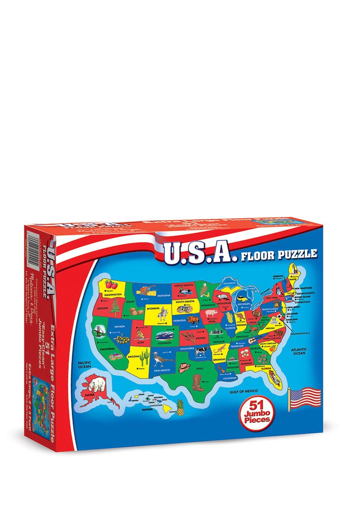 USA Map 51 Piece Floor Puzzle Floor puzzle