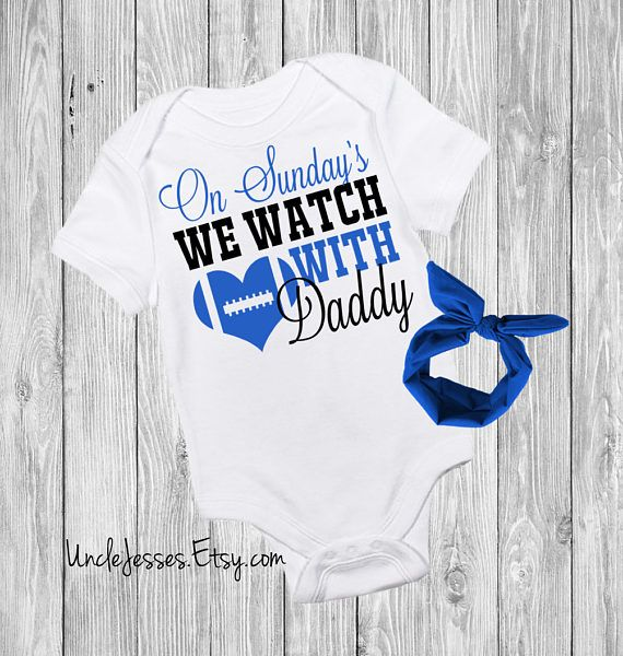 3cab5ce3d On Sunday's We Watch Football with Daddy Crawl Walk Tackle: Cute Baby One  Piece for Football Lovers - Touchdowns and Tutus - NFL Fan - My First  Football ...