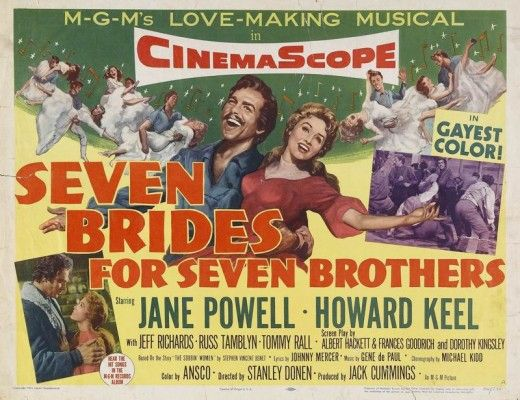 Image result for seven brides for seven brothers poster