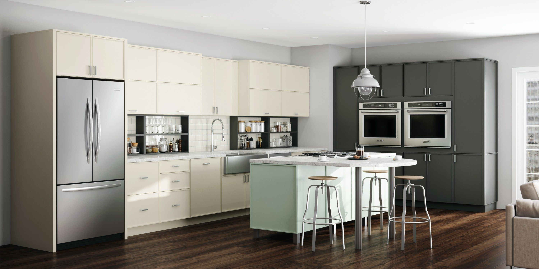 Bellmont Cabinets Slim Shaker Inspired Door Matisse Atlantic Sales And Marketing Contemporary Kitchen Cabinets Kitchen Design Kitchen And Bath Design