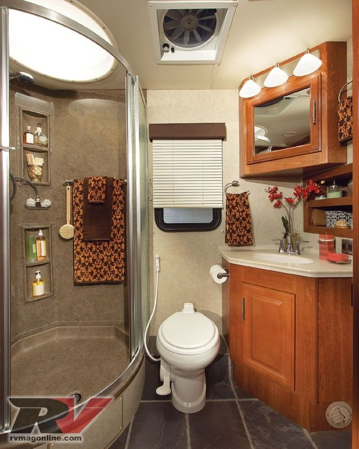 RV Bathroom Ideas Pinteres - Small trailer with bathroom for bathroom decor ideas