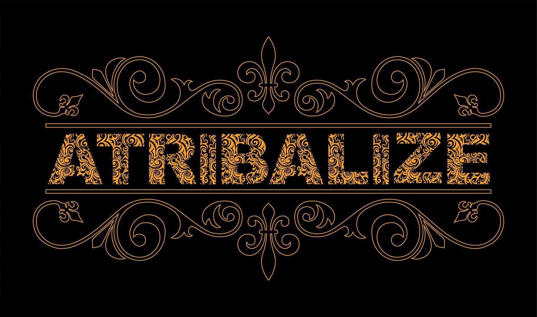 Atribalize Typeface + Extras Geometric font, Tribal