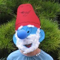 Papaschlumpfmaske  gratis Bastelanleitung