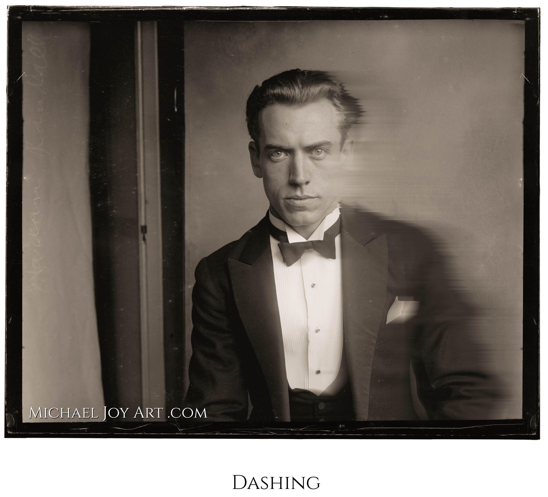 Vintage Man Portrait Retro Black And White Photograph Old