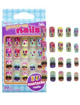 Jusice nail polish for girls   ... Mustaches Fake Nails   Girls ...
