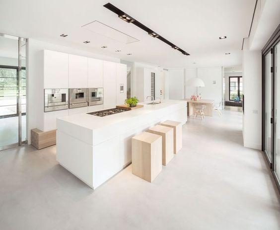 Keuken Gietvloer Witte : Afbeeldingsresultaat voor witte keuken gietvloer küche