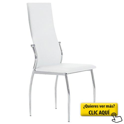 Silla tapizada boston blanca #silla #comedor   Sillas de comedor en ...