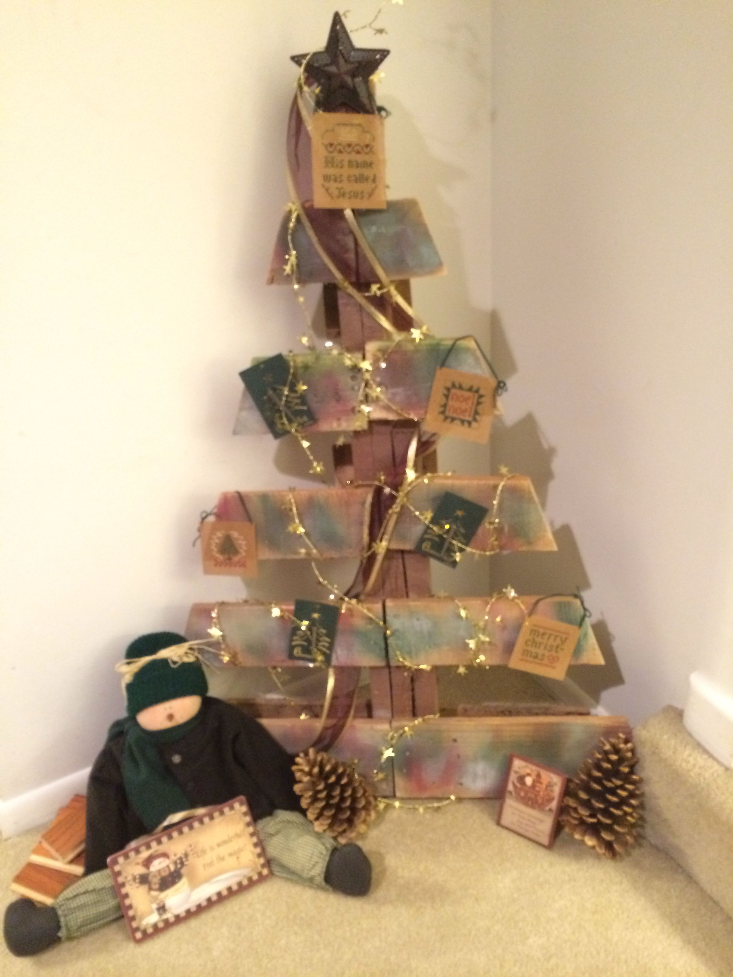 Decorated pallet Christmas tree | Pallet christmas ...