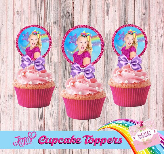 JoJo Siwa Cupcake Toppers Instant Download Digital File