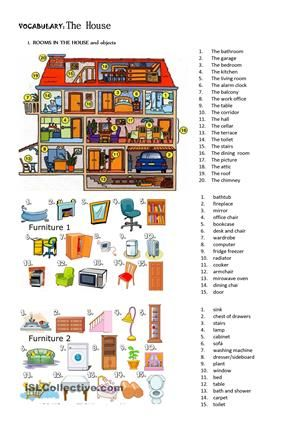 the house furniture prepositions of place there be esl worksheets furniture appliances. Black Bedroom Furniture Sets. Home Design Ideas