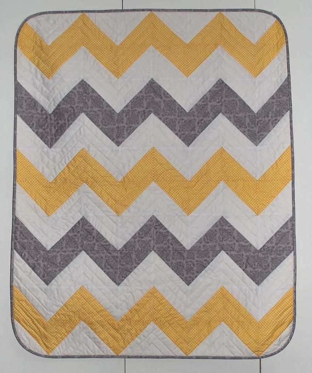 Baby Chevron Quilt | Baby chevron, Chevron quilt pattern and ... : chevron quilt patterns - Adamdwight.com