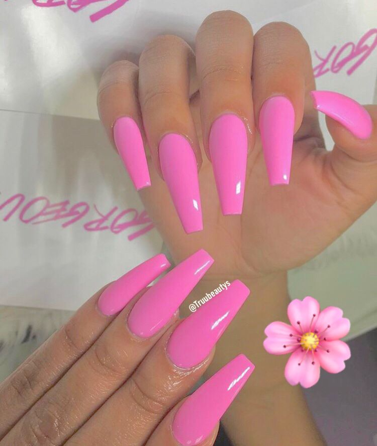 Truubeautys Barbie Pink Nails Pink Nail Designs Hot Pink Nails