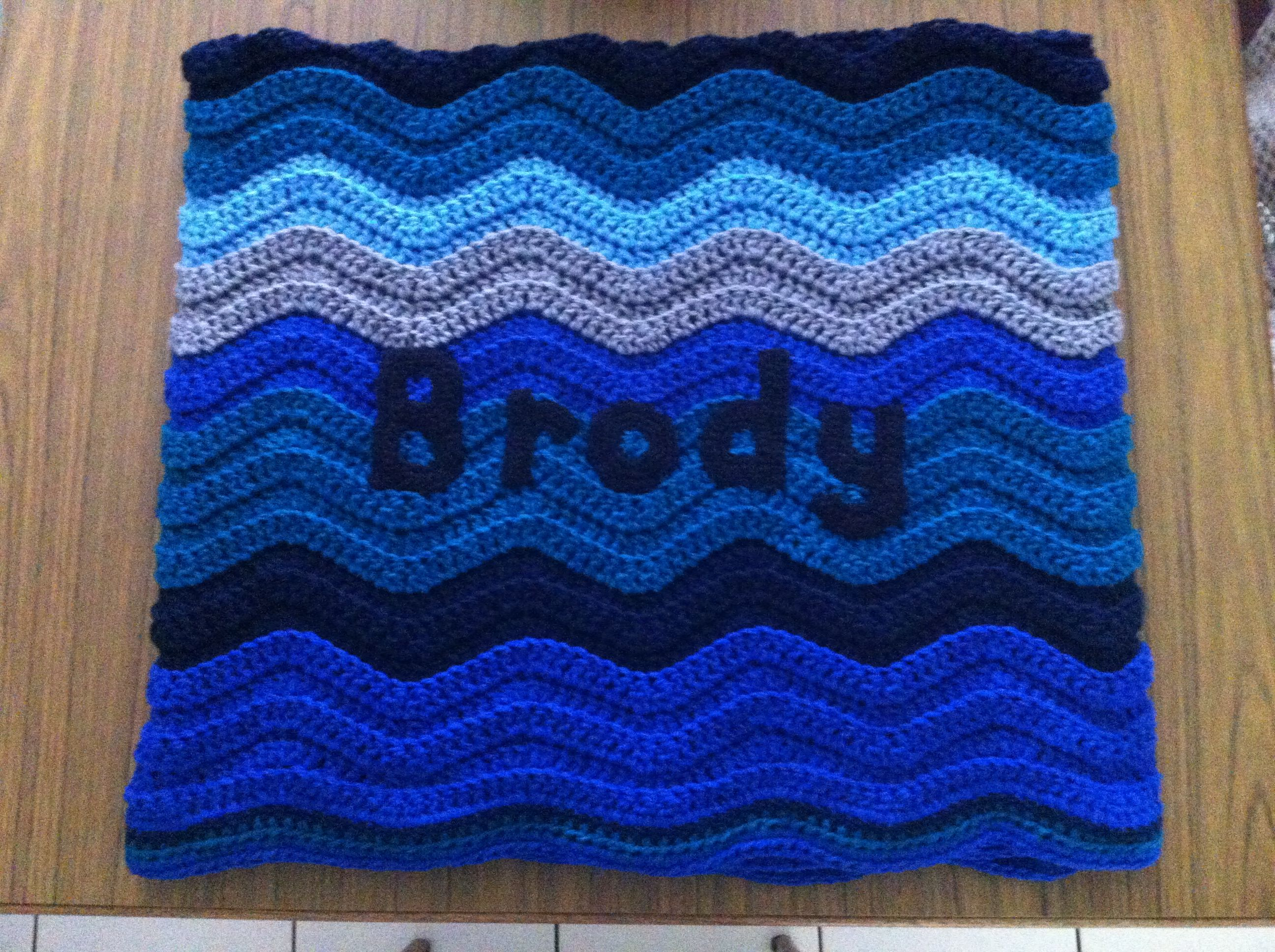 Personalised Crochet Ripple Blanket Pattern From Attic