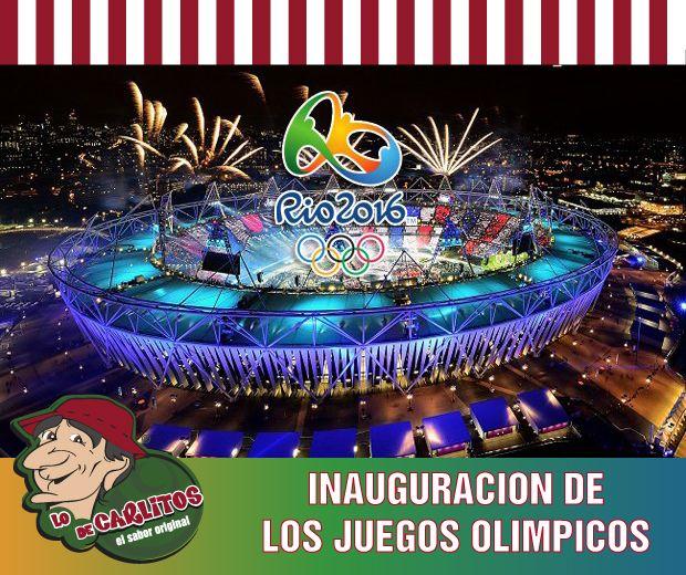 Vení hoy a Lo de Carlitos Miami Beach a disfrutar la Inauguración de los Juegos Olímpicos!!  Los esperamos en 6987 Collins Ave