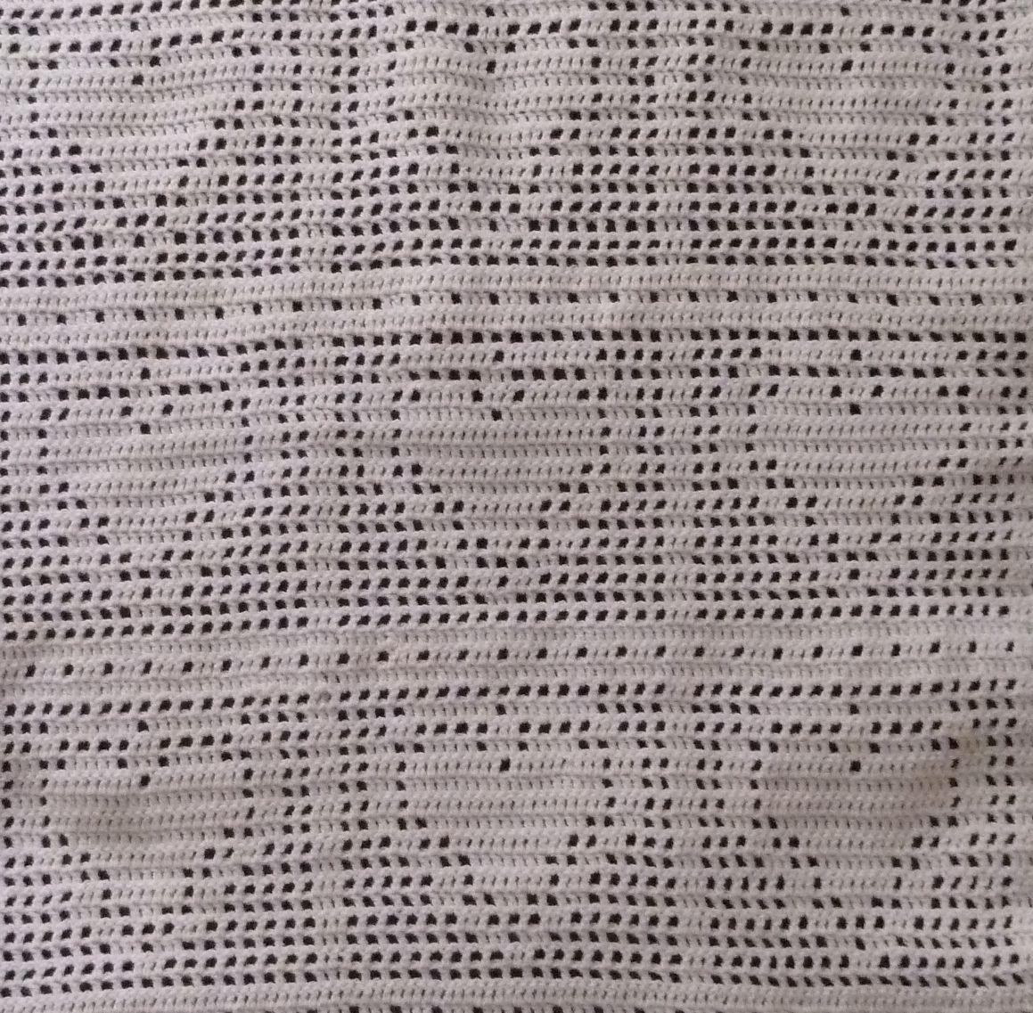 Bordered Heart Crochet Filet Blanket (Close up) Bordered Heart Filet ...