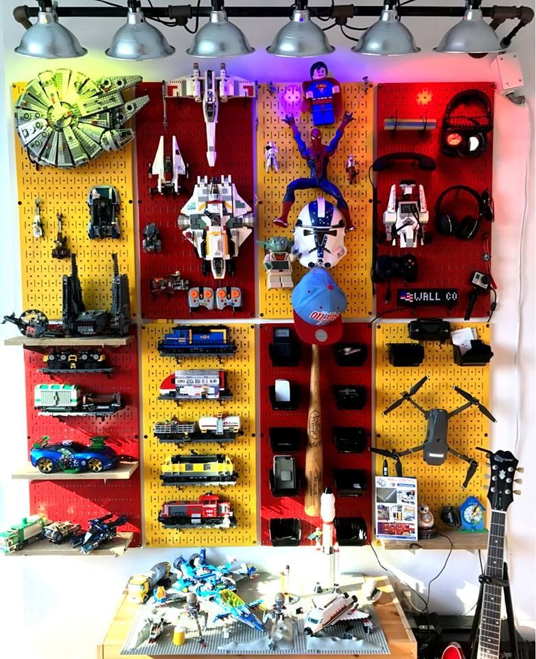 pegboard for toy storage and wall organization wall on wall control id=44058