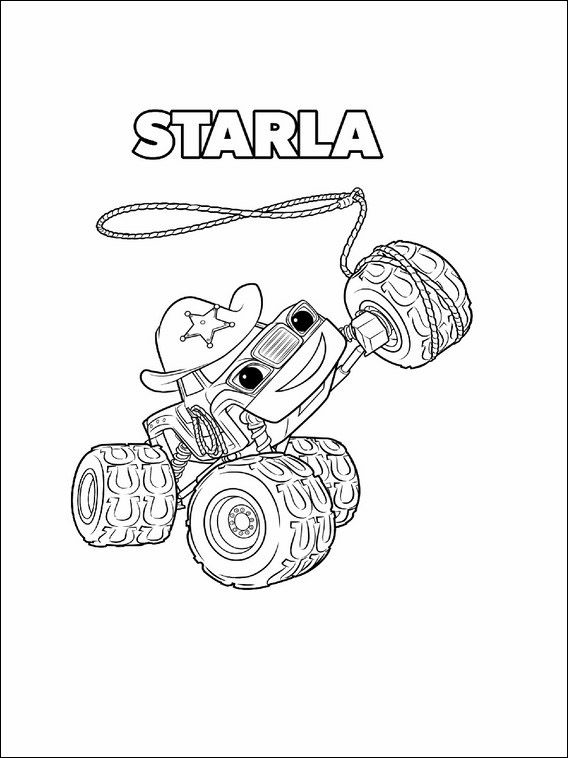 Blaze and the Monster Machines Coloring Pages for kids 7 | Blaze ...